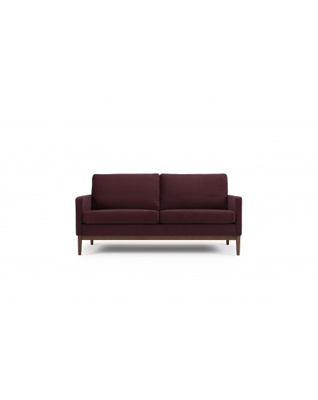 Finn sofa 2,5-os. tkanina Velvet 606 Bordeaux, nogi ciemny dąb (oak, dark stained)