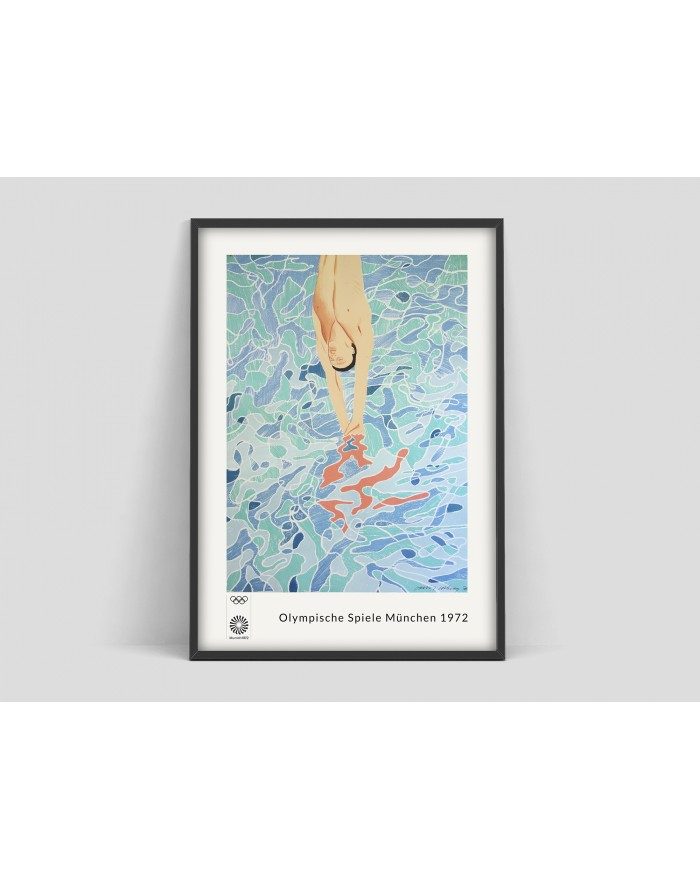 Plakat David Hockney Olimpiada Munchen 1972