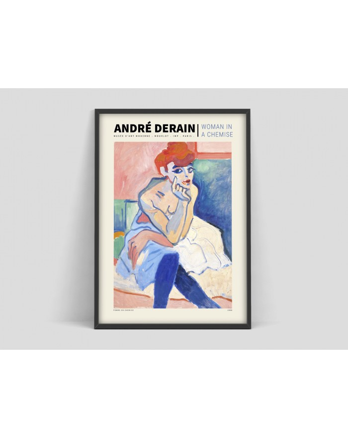 "Plakat Andre Derain ""Woman in a chemise"""