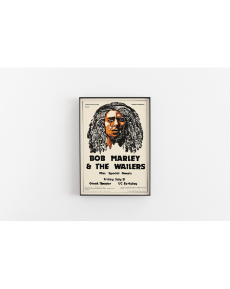 Various selection - Plakat koncertowy Bob Marley and The Wailers - Plakaty Skandynawskie