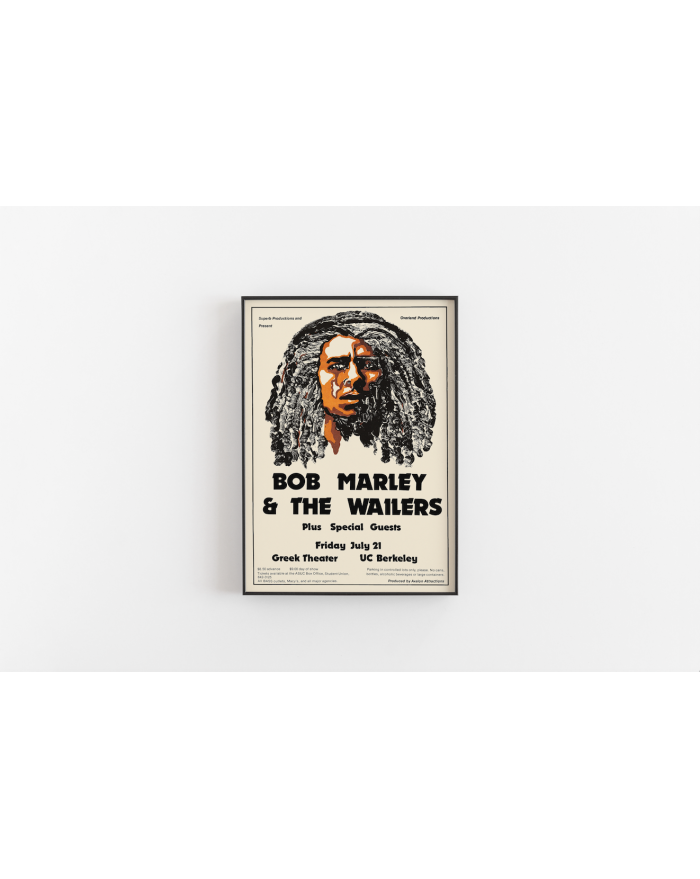 Plakat koncertowy Bob Marley and The Wailers