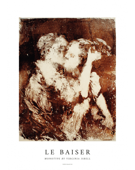 Plakat La Baiser By Virginia Isbell, 50 x 70 cm