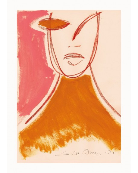 Paper Collective - Pink Portrait By Loulou Avenue, 50 x 70 cm - Plakaty Skandynawskie