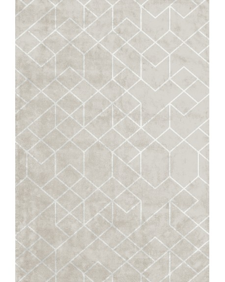Layered - OUTLINES Cold Sand Viscose Rug - Skandynawskie Dywany