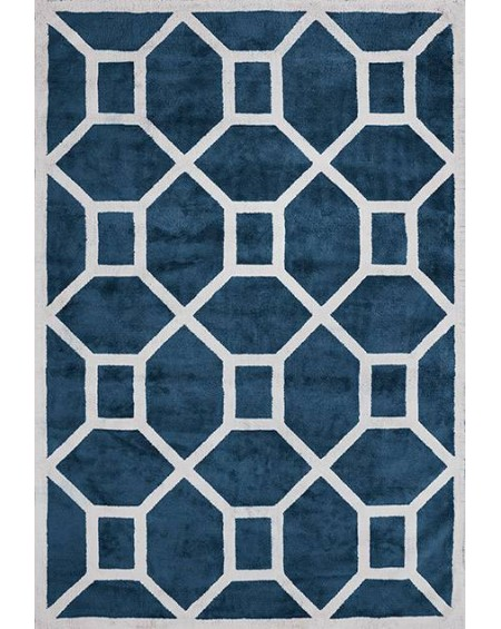 Layered - Entrance Midnight Blue Viscose Rug