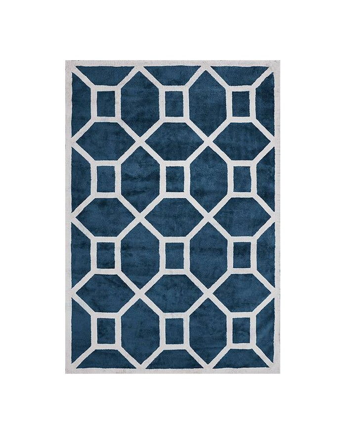 Entrance Midnight Blue Viscose Rug