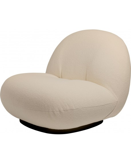 Gubi - Pacha Lounge Chair Returning Swivel - Fotele Skandynawskie