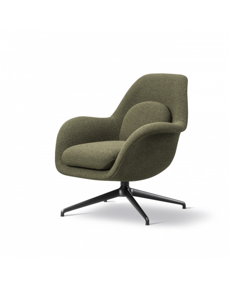 Fredericia - Swoon Lounge Petit Swivel Base - Fotele Skandynawskie