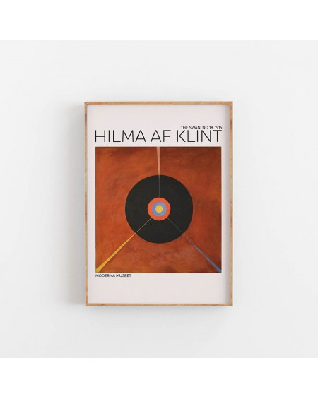Empty Wall - Plakat Hilma af Klint - The Swan NO. 18 - Plakaty Skandynawskie