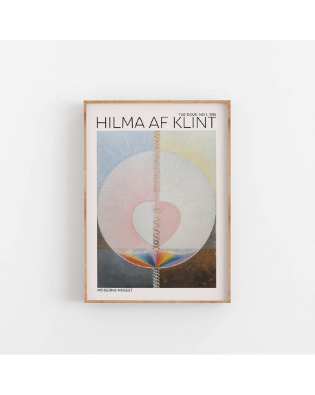 Empty Wall - Plakat Hilma Af Klint - The Dove NO. 1 - Plakaty Skandynawskie