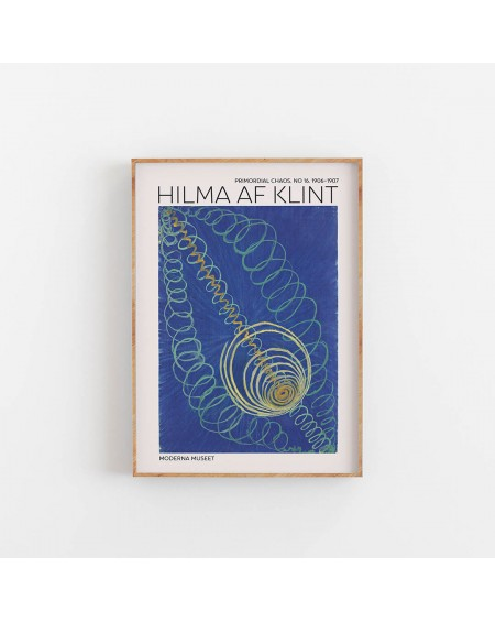 Various selection - Plakat Hilma Af Klint - Primordial Chaos NO. 6 - Plakaty Skandynawskie