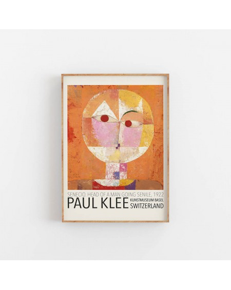 Empty Wall - Plakat Paul Klee - Head of a man going senile, 1922 - Plakaty Skandynawskie
