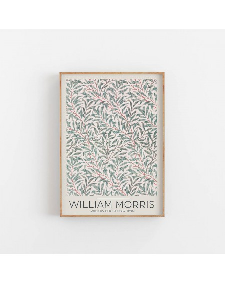 Empty Wall - Plakat William Morris - Willow Bough 1834 - Plakaty Skandynawskie