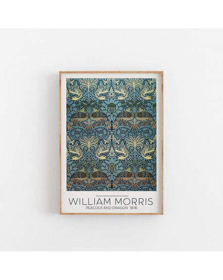 Various selection - Plakat William Morris - Peacock and Dragon 1878 - Plakaty Skandynawskie