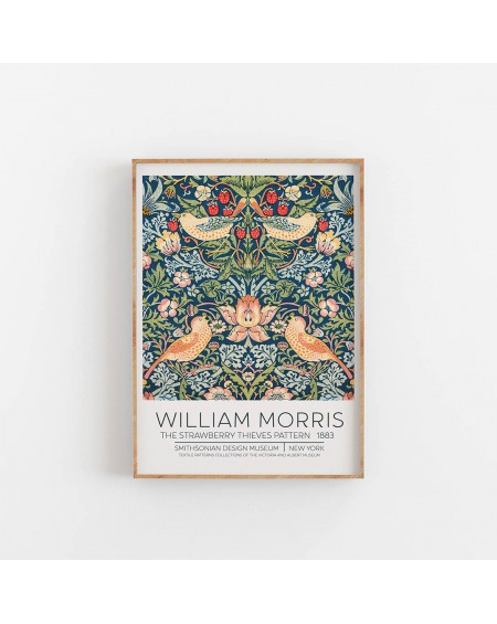 Empty Wall - Plakat William Morris - The Strawberry Pattern 1883 - Plakaty Skandynawskie