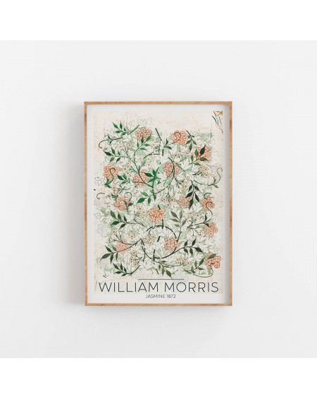 Empty Wall - Plakat William Morris - Jasmine 1872 - Plakaty Skandynawskie