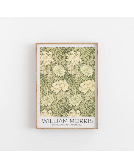 Various selection - William Morris- Chrysanthemum Pattern 1877 - Plakaty Skandynawskie