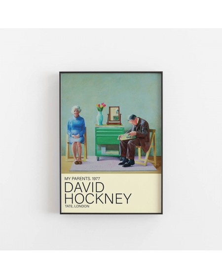 Empty Wall - Plakat David Hockney - My Parents - Plakaty Skandynawskie
