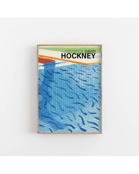Empty Wall - Plakat David Hockney - Pool Made with Paper - Plakaty Skandynawskie