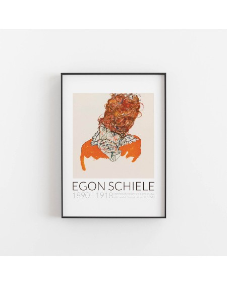 Empty Wall - Plakat Egon Schiele - Portrait of the artists sister in law, 1920 - Plakaty Skandynawskie