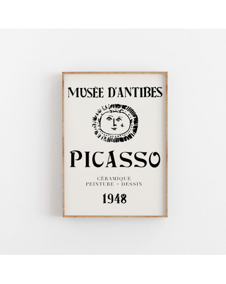 Empty Wall - Plakat Picasso - Musee D'antibes, 1948 - Plakaty Skandynawskie