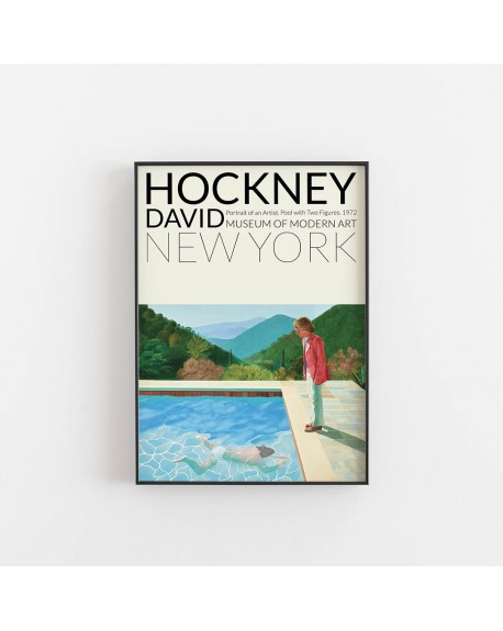 Empty Wall - Plakat David Hockney - Pool with Two Figures - Plakaty Skandynawskie