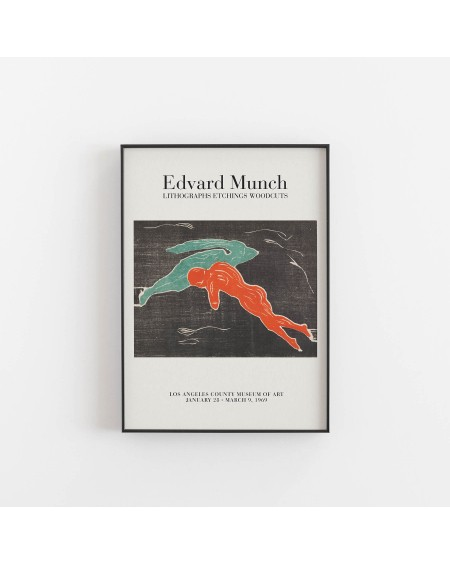 Various selection - Plakat Edvard Munch, Los Angeles County Museum of Art 1969 - Plakaty Skandynawskie