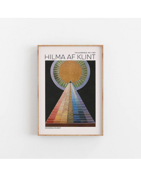 Empty Wall - Plakat Hilma Af Klint - The Altarpiece NO. 1 - Plakaty Skandynawskie