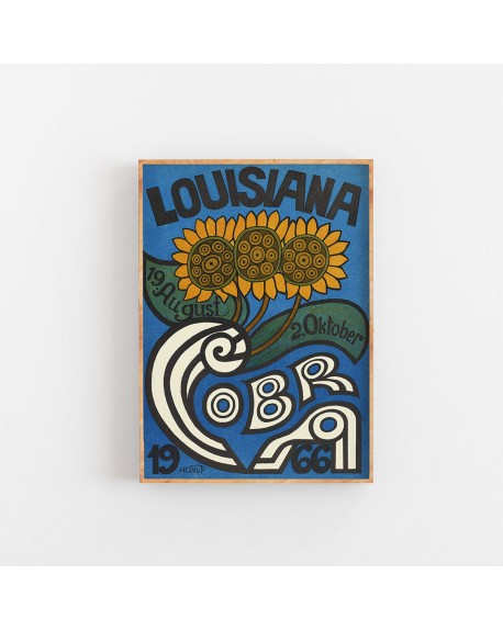 Empty Wall - Plakat Louisiana Sunflowers 1966 - Plakaty Skandynawskie