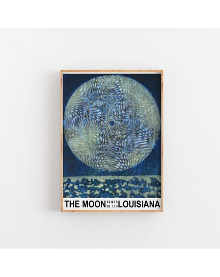 Empty Wall - Plakat The Moon Louisiana - Plakaty Skandynawskie