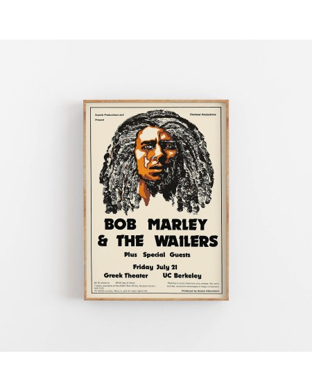 Empty Wall - Plakat Bob Marley and The Wailers - Plakaty Skandynawskie