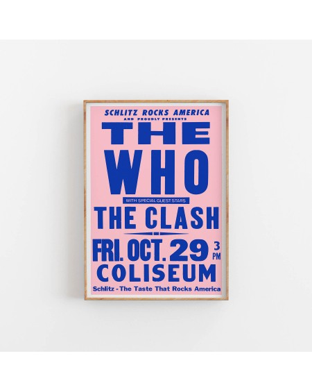 Various selection - Plakat Koncertowy The Who, The Clash - Plakaty Skandynawskie