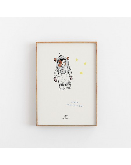 Paper Collective - Plakat Space traveller - Świat Dziecka
