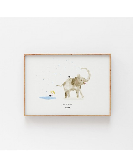 Paper Collective - Plakat Ellie The Elephant - Plakaty Skandynawskie