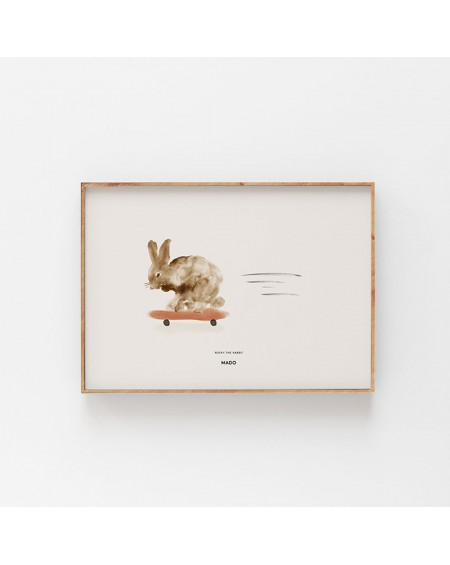 Paper Collective - Plakat Rocky the Rabbit - Świat Dziecka