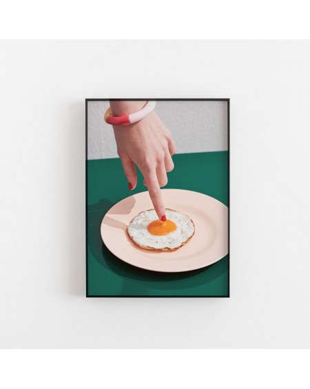 Paper Collective - Fried Egg poster - Plakaty Skandynawskie