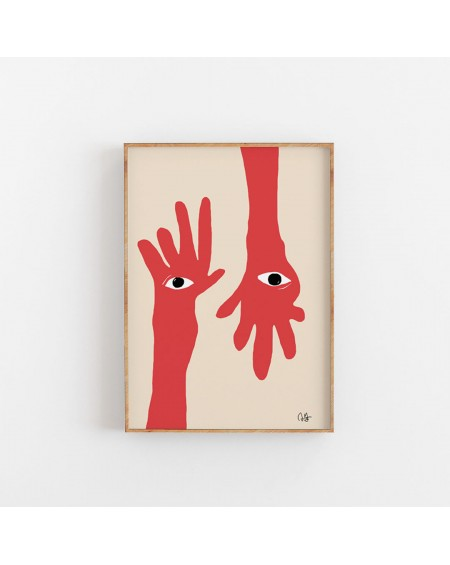Paper Collective - Plakat Hamsa Hands By Anna Mörner, 50 x 70 cm