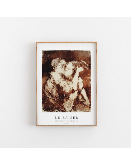 Paper Collective - Plakat La Baiser By Virginia Isbell, 50 x 70 cm - Plakaty Skandynawskie
