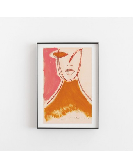 Paper Collective - Plakat Pink Portrait By Loulou Avenue - Plakaty Skandynawskie