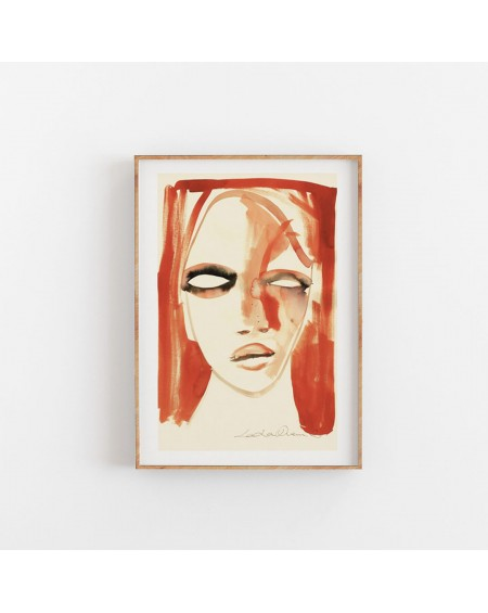 Paper Collective - Plakat Red Portrait By Loulou Avenue - Plakaty Skandynawskie