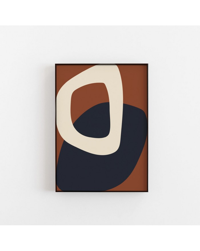 Plakat Solid Shapes 02 by Nina Bruun