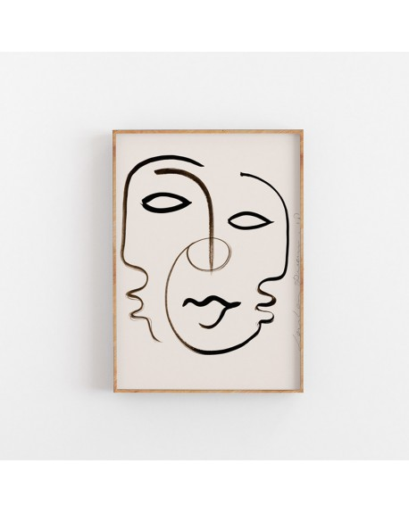 Paper Collective - Plakat We are one by Loulou Avenue - Plakaty Skandynawskie