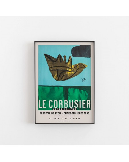 Empty Wall - Plakat Le Corbusier Art Exhibition poster - Plakaty Skandynawskie