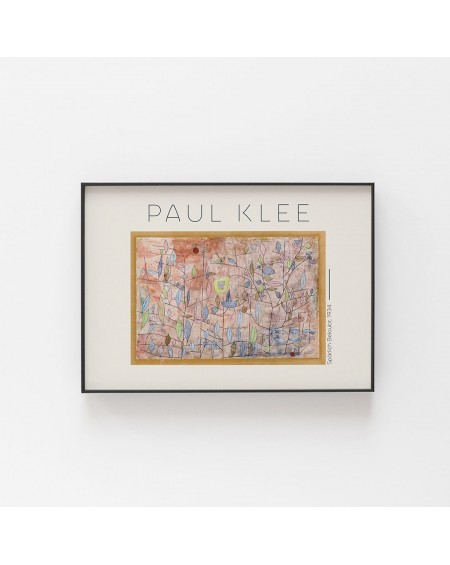 Various selection - Plakat Paul Klee - Spärlich Belaubt 1934 - Plakaty Skandynawskie