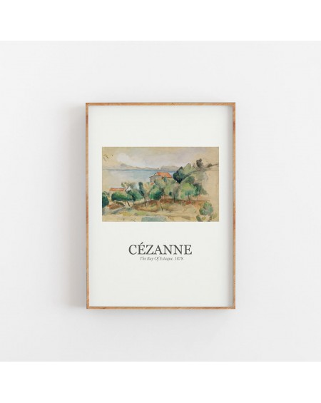 Various selection - Plakat Paul Cézanne - The Bay Of Estaque 1878 - Plakaty Skandynawskie