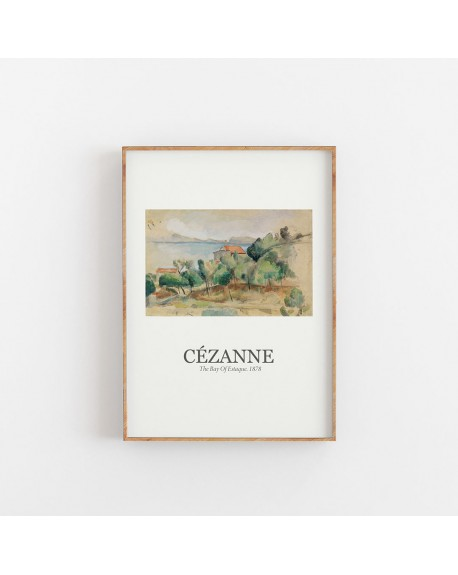 Empty Wall - Plakat Paul Cézanne - The Bay Of Estaque 1878 - Plakaty Skandynawskie
