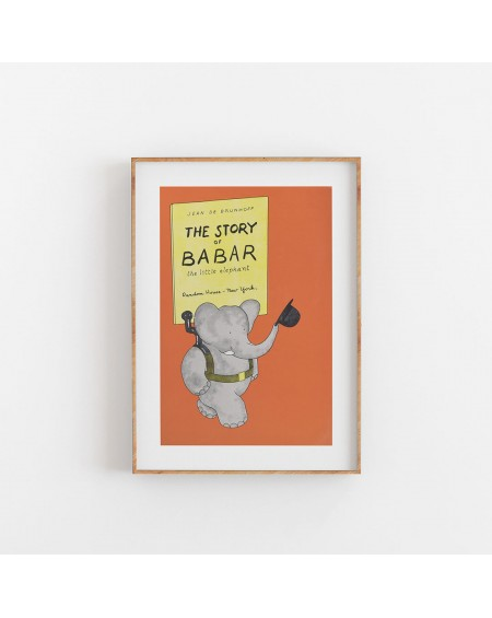 Empty Wall - Plakat The Story Of Babar - Plakaty Skandynawskie