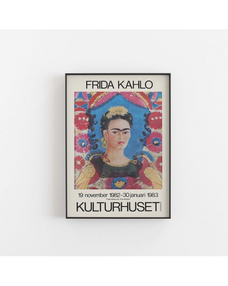 Empty Wall - Plakat Frida Kahlo - Exhibition poster for Kulturhuset - Plakaty Skandynawskie