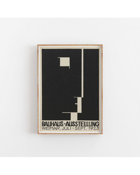 Empty Wall - Plakat Bauhaus Art Exhibition poster - Plakaty Skandynawskie