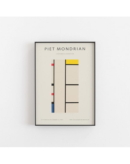 Empty Wall - Plakat Piet Mondrian - Exhibition poster for the Guggenheim Museum, New York, 1971 - Plakaty Skandynawskie